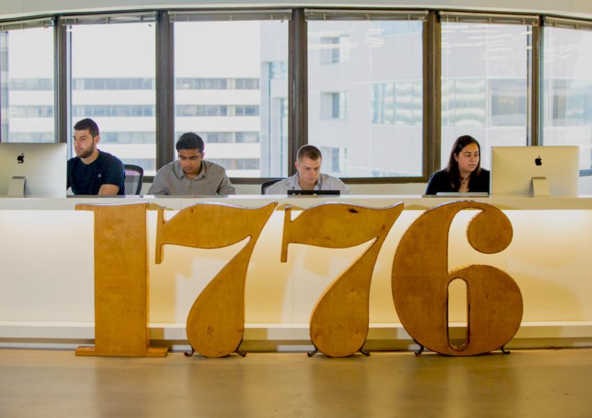 """1776, """"startup for startups""""."""