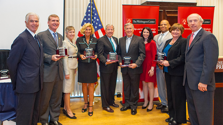 Recipients of the 2014 Higher-Ed Civic Engagement Awards