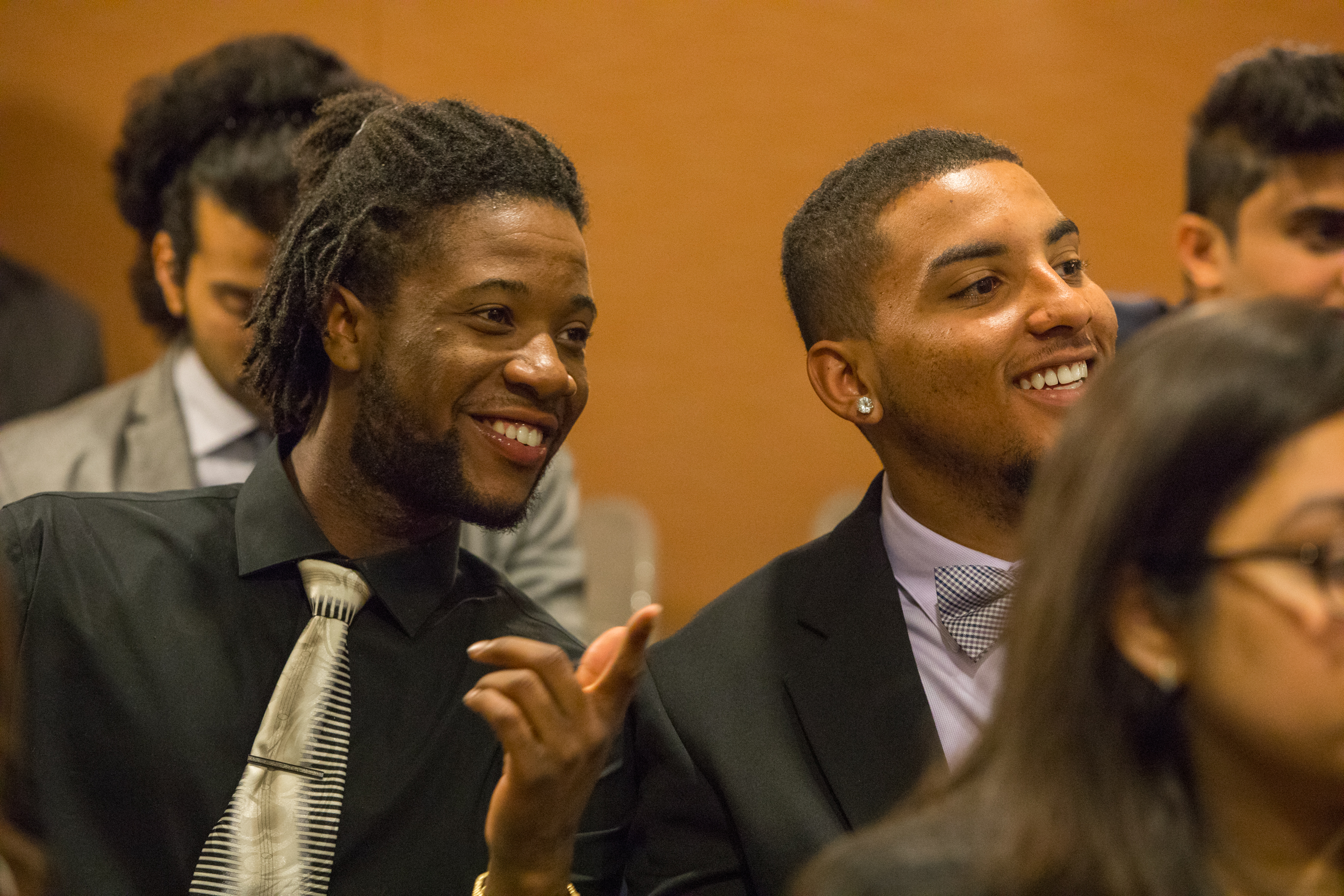 Kamari Hunter on the left, during the Race & the American Presidency SMLS event