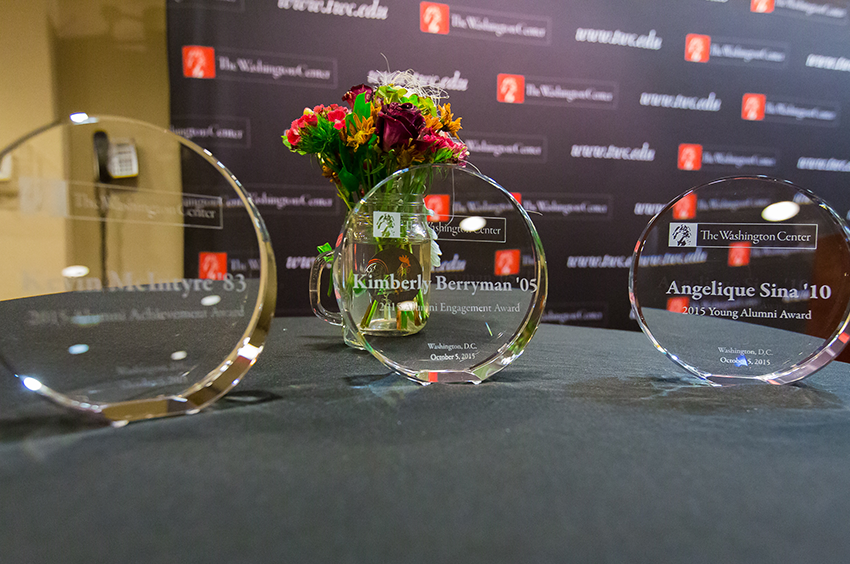 Closeup of TWC 2015 Alumni Awards