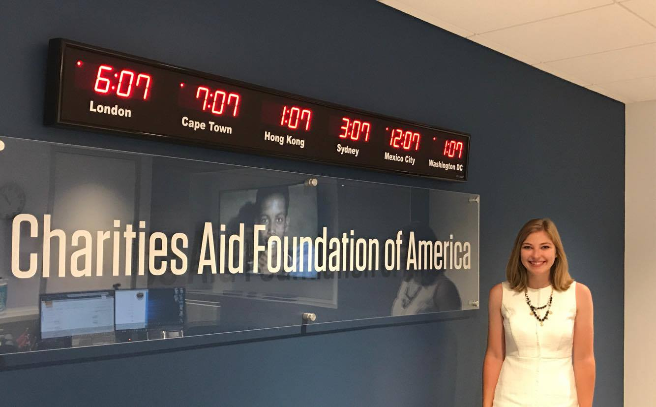 Emily at the Charities Aid Foundation