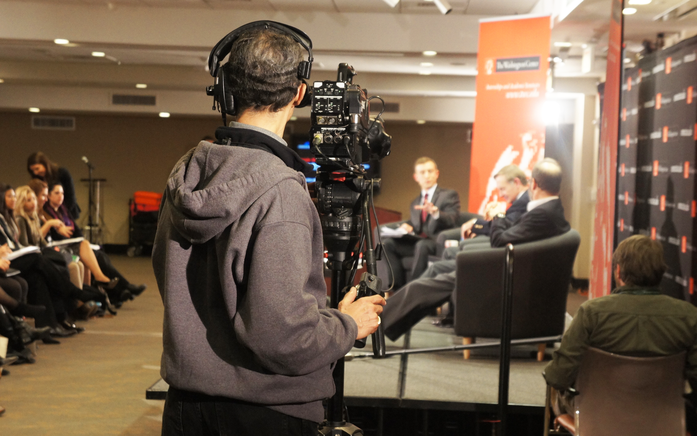C-SPAN recording a panel discussion during week 1 of the seminar