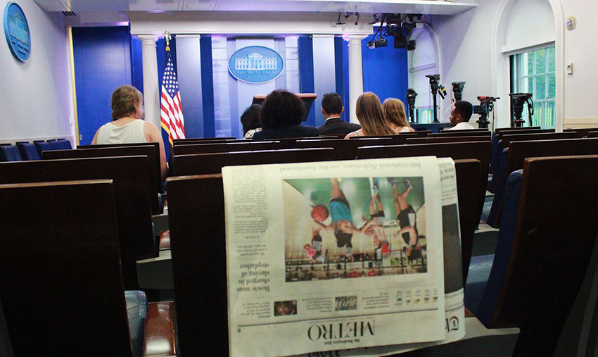 TWC students in the White House briefing room