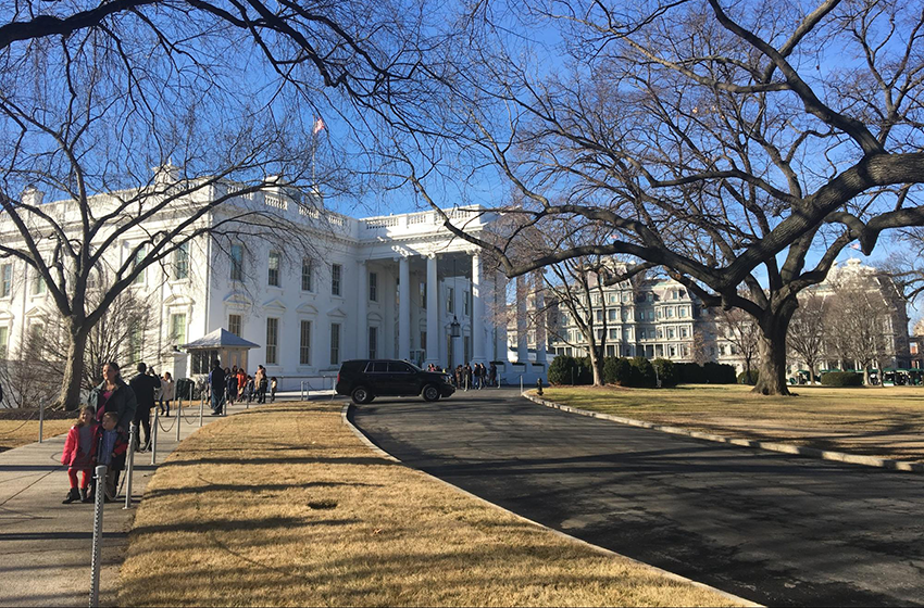 Visiting the White House as an intern at The Washington Center