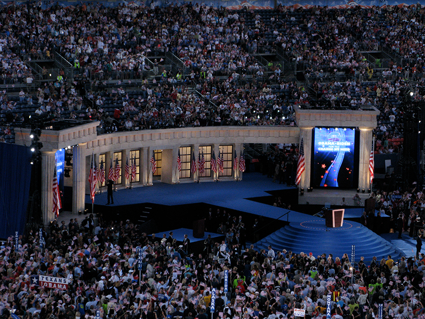 Neil Deegan attended the 2008 Democratic National Convention in Denver through The Washington Center's Campaign seminar series