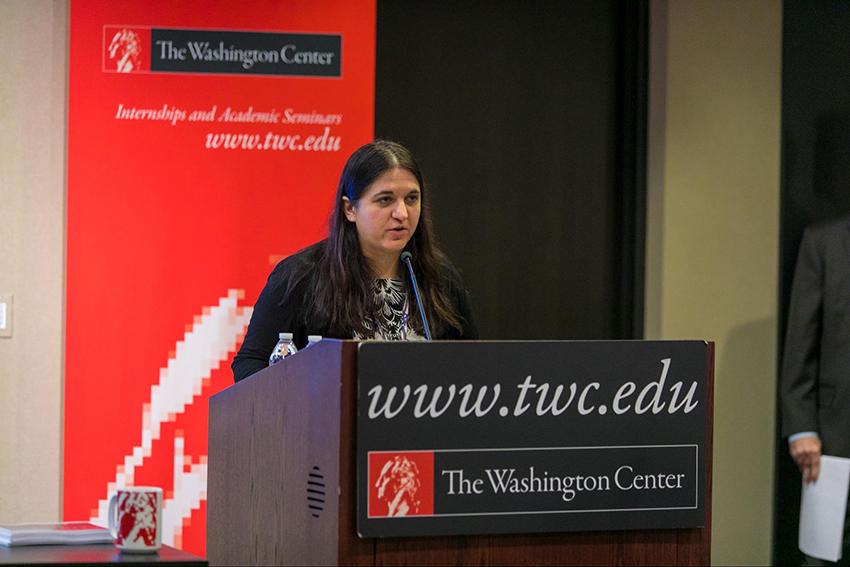 The Washington Center's Campaign 2020 Faculty Director for the DNC, Dr. Julia Azari