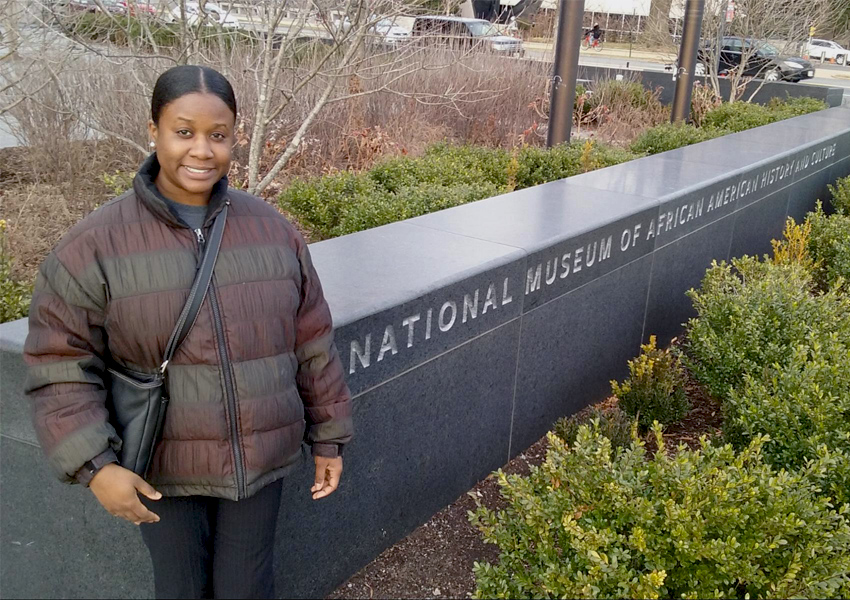 Lauren E. Munroe at thwe National Museum of African American History and Culture.