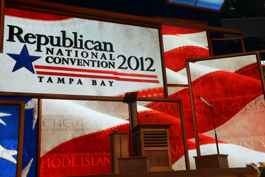 The Republican National Convention (RNC) in Tampa in 2012