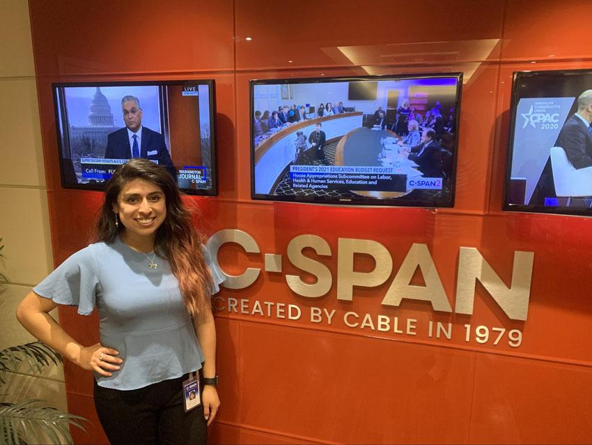 Washington Center C-SPAN Intern Claudette Enriquez