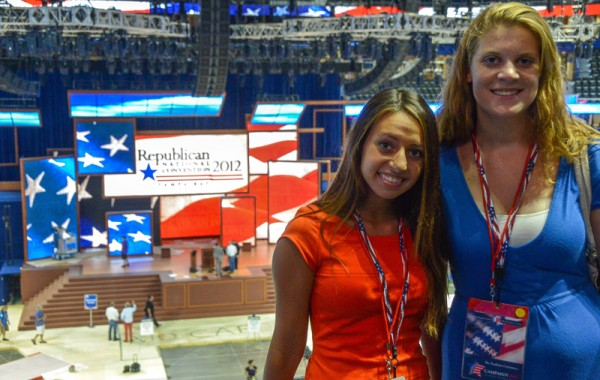 TWC Seminar participants get a private tour of the RNC convention floor