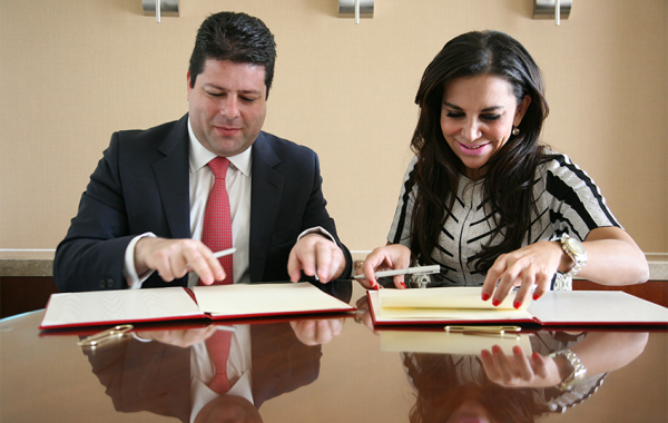 Gibraltar's Chief Minister, Fabian R. Picardo & The Washington Center's Chief International Officer and Senior Vice President, Pilar Mendiola-Fernández