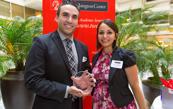 Farzan Tebyanian of United Way honored with Most Outstanding Internship Supervisor Award