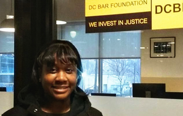 Lauren at the D.C. Bar Foundation.