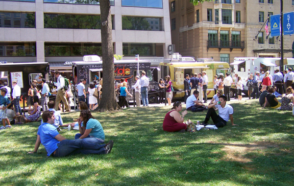 Farragut Square at Lunch