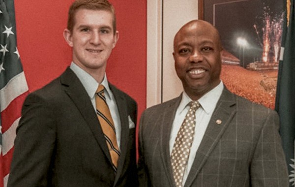 Me with my boss, Senator Tim Scott (R-SC). Photo credit: Patrice Smith, Assistant Press Secretary for Senator Tim Scott.