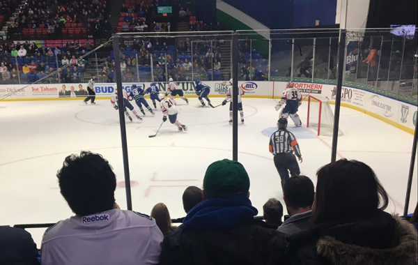 Heading home to catch a hockey game