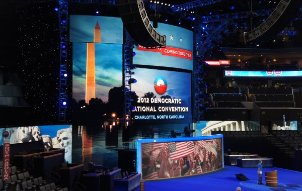 The 2012 Democratic National Convention in Charlotte