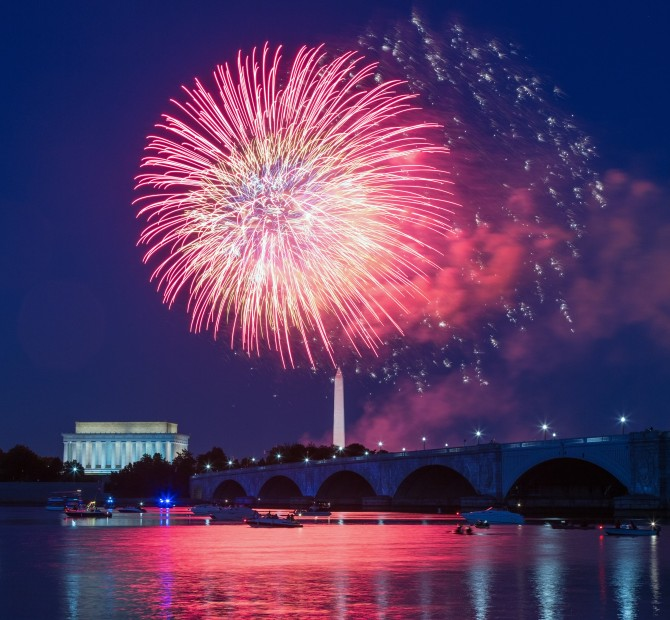 4th of July fireworks on the Mall is a summer tradition