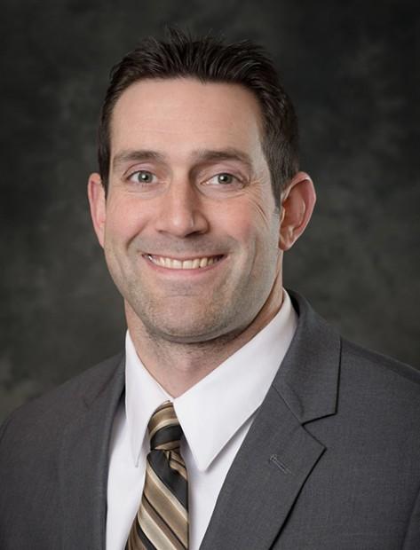 Michigan Tech liaisons Brent Burns.