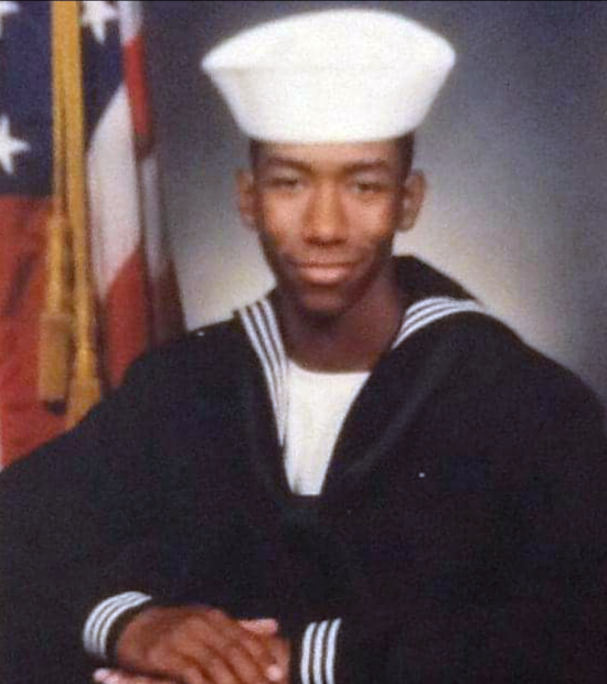 Cedric during his time in the Navy