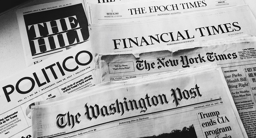 My collection of Washington, D.C. newspapers