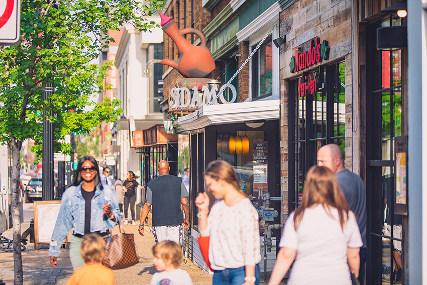 H Street, located 3 blocks from the RAF, is a hip and happening avenue with a vast array restaurants and cafes to choose from.