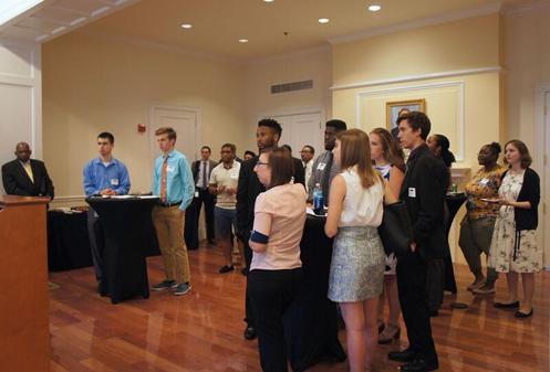 Students listen to Delegate Jones