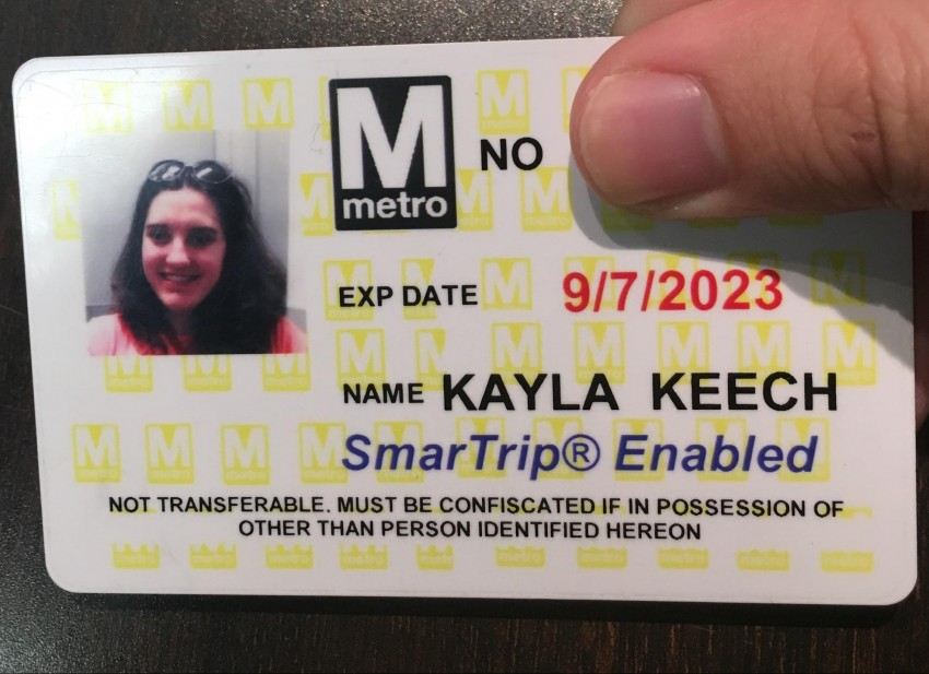 This SmarTrip card lets you ride the Metro system at a reduced fare.