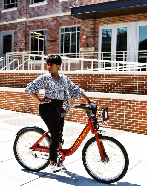 Ride a Capitol Bikeshare during the festival