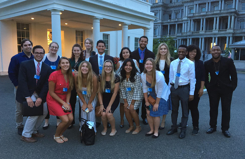 The Washington Center students at the White House