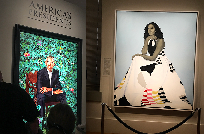 TWC Interns have a chance to visit the Obama Portraits
