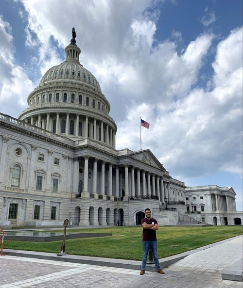 Emerson Senior Matt Enriquez interned with Representative Ayanna Pressley