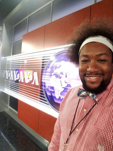 Cedric interned at Voice of America through the VET Initiative