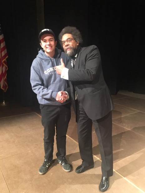 Seth Ickes with Dr. Cornel West