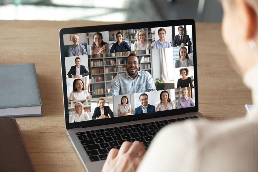 Collaboration with coworkers during your remote internship