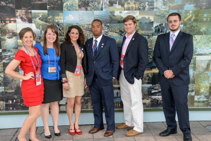 Lauren with fellow TWC interns at the 2012 RNC.