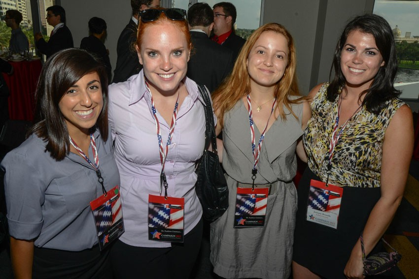 Cassie (second from left) with fellow TWC interns at the 2012 Republican National Convention.