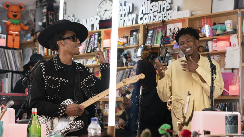 Singer and producer Raphael Saadiq performs at NPR's Tiny Desk Fest.