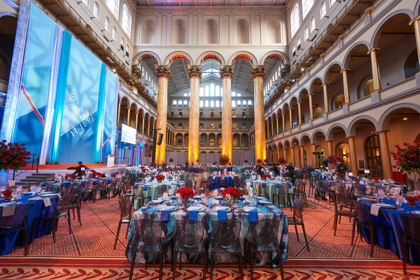 The soaring Great Hall at the National Building Museum.