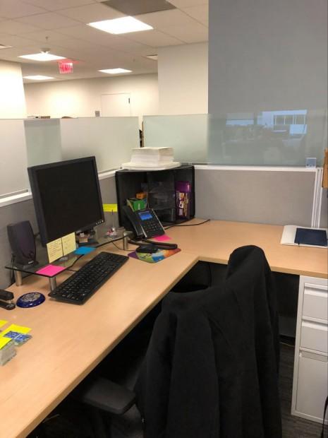 Kelsey's desk at WPA in D.C.