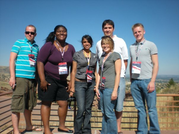 Neil Deegan and other students from Pennsylvania at TWC's 2008 Convention Seminar in Denver.
