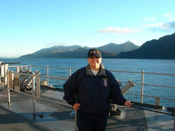 Francheska Salazar served thirteen years on active duty in the United States Navy.
