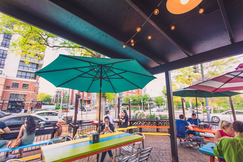 Some D.C. restaurants offer spacious patios for drinking and eating while social distancing.